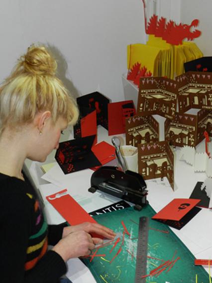 Hannah Kokoschka in studio