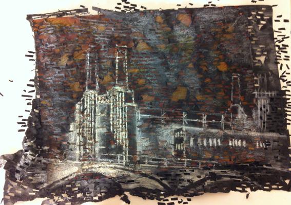 Hannah kokoschka Battersea Art station sketch