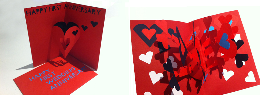 Hannah Kokoschka anniversary pop-up cards