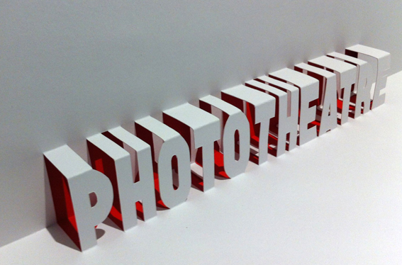 Phototheatre pop-up logo lettering