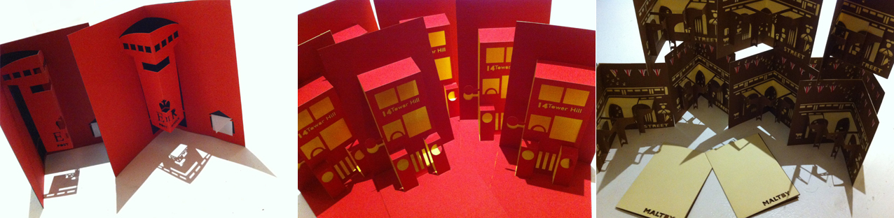 Hannah Kokoschka pop-up cards for Lassco