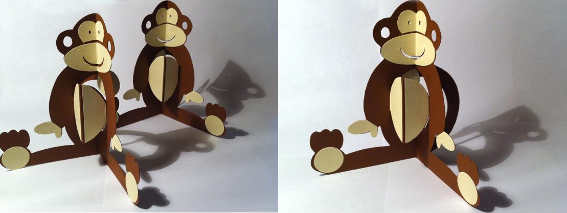 chinese new year monkey pop-up cards hannah kokoschka
