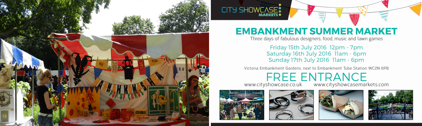 Hannah Kokoschka popupcards at Cityshowcase embankment market