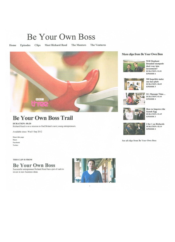 BBC 3 Be your own Boss - Hannah Kokoschka pop-up cards with innocent smoothies