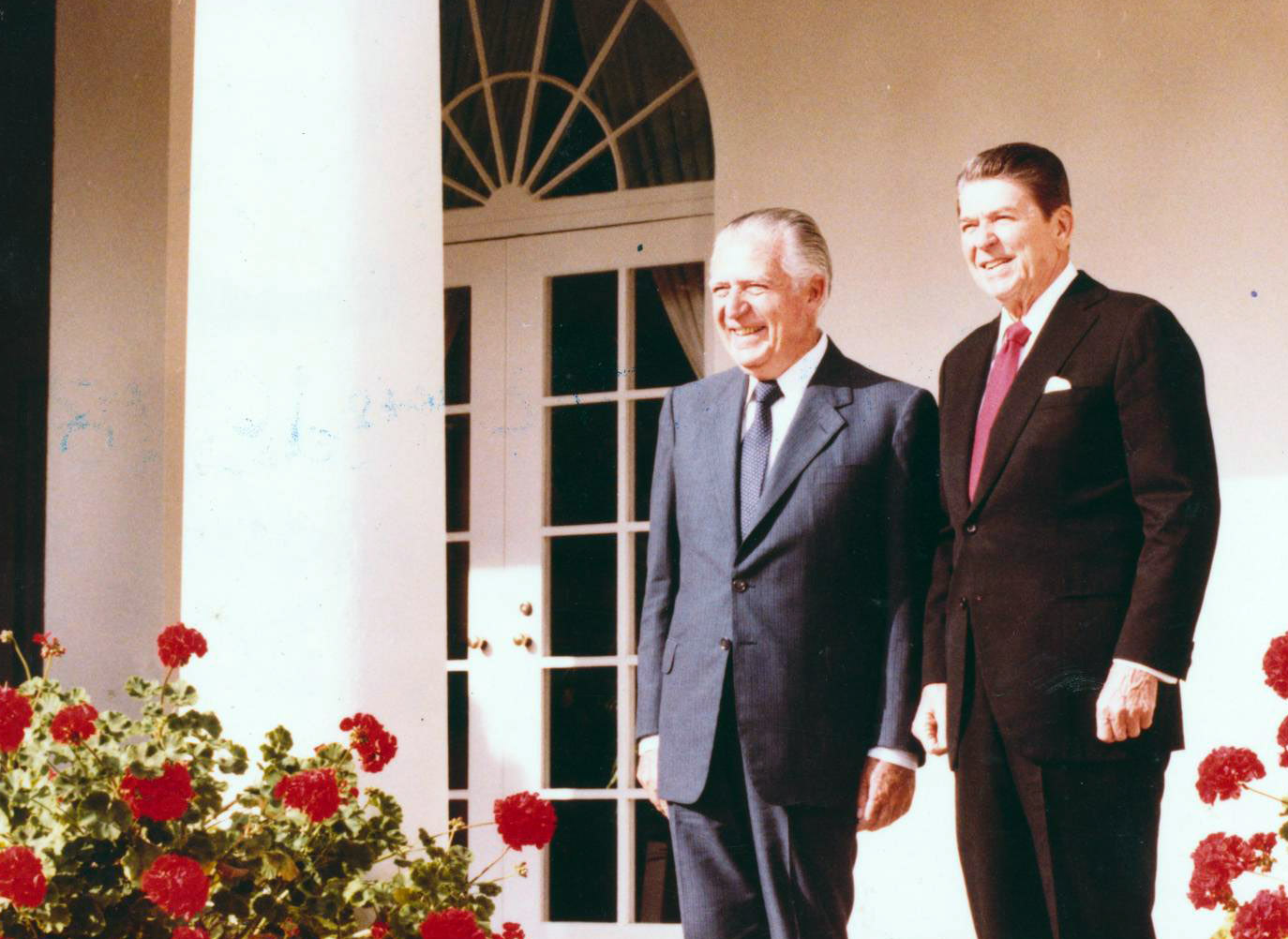 President of Peru, Fernando Belaúnde and Ronald Reagan, US President, at the White House
