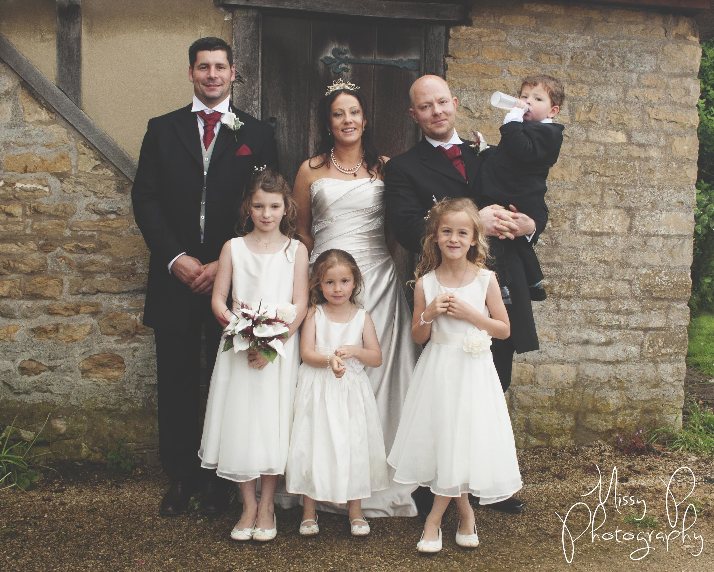 Gary, Kim, Best Man - James & Kim & Gary's Beautiful children, Millie, Skye, Sophie - Jo & Harry