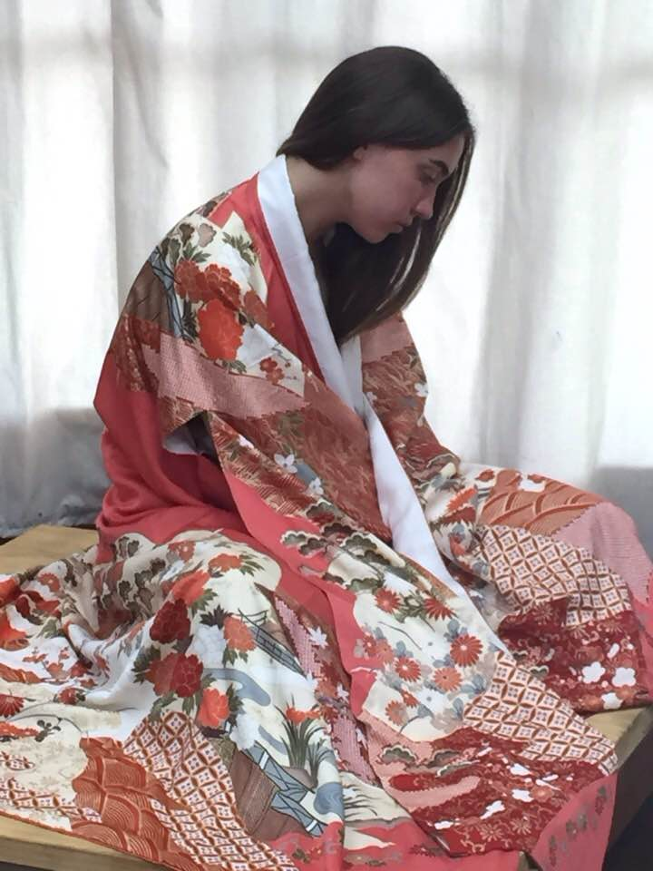 The Antique Kimono which Claire will be wearing on the day of workshop