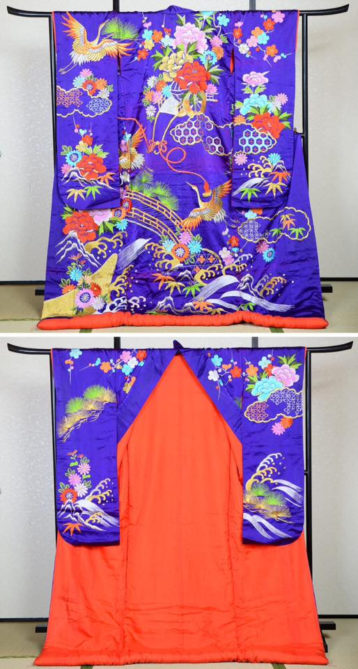The Antique Wedding Kimono the model will be wearing on the day of workshop