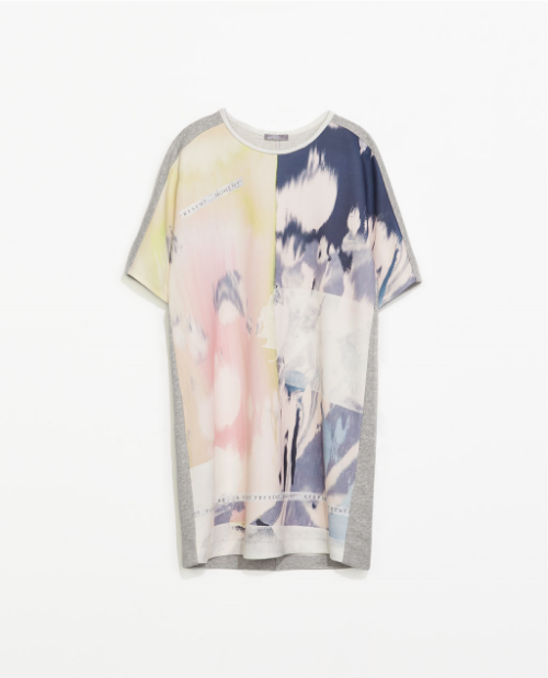 Zara's chic T-shirt dress is great for running errands, or casual Sunday brunch. Pair with a strappy sandal or a comfy Birkenstock slide (as mentioned in the  Birkenstocks are Back  entry)