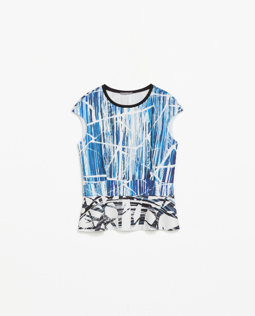Zara is right on trend again with this peplum find. Pair with white skinny denim or a pencil skirt to fancy up