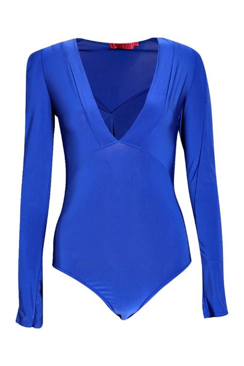 Hazel Deep Plunge Neck Bodysuit