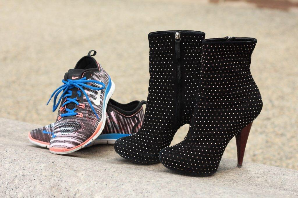 Choose sneakers or add a heel to dress up a causal look