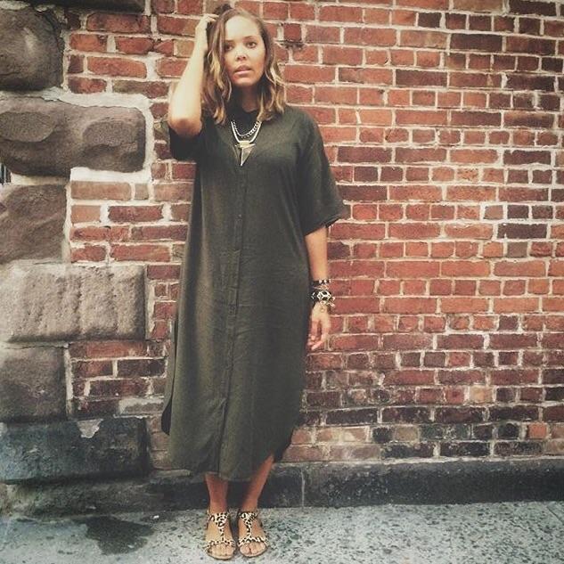 High-Slit Shirt Dress $22.90