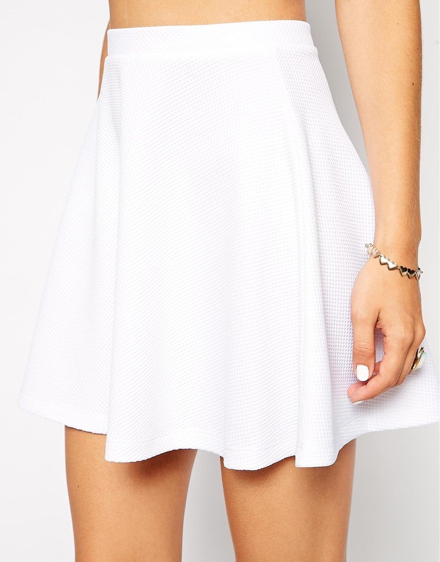 Asos Skater Skirt in White
