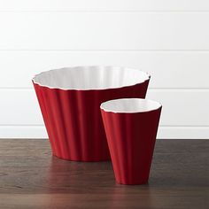 Scalloped Popcorn Cup and Tub