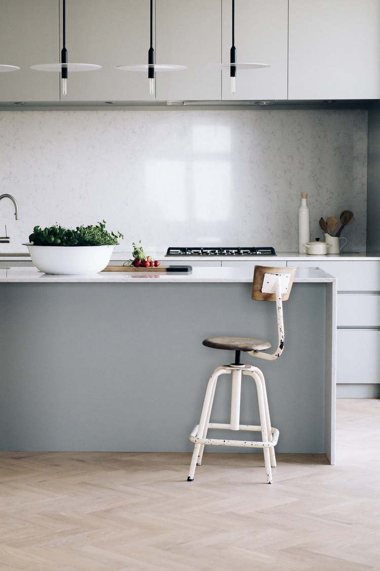 Kitchen Design   - Kitchen Design and styling for Custom Kitchen & Interiors/Vibeke Husebye. Customized kitchen in MDF and with solid oak drawers and Silestone countertop. See all details on photos below. Photos by Ina K. Andersen