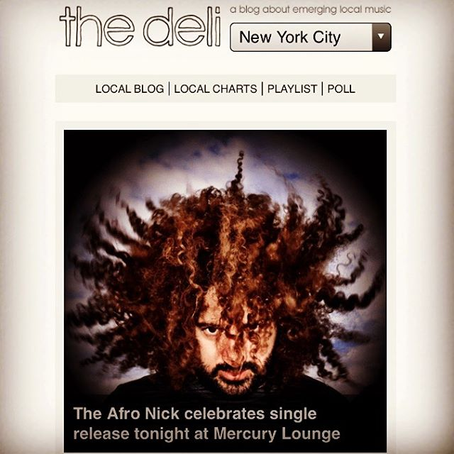 Thanks 🙏 @thedelimag see you tonite @mercuryloungeny with @canetband  permalink : http://nyc.thedelimagazine.com/40517/afro-nick-celebrates-single-release-tonight-mercury-lounge  Check it out: http://nyc.thedelimagazine.com
