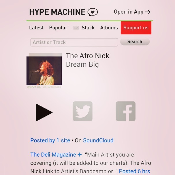 "I feel blessed I feel hyped ""Dream Big"" now in Stores!  https://ampl.ink/WBjpN Grab your 🎟️ bit.ly/TheAfroNickMercury  Tonight @mercuryloungeny With @Canetband  #newrelease #single  #rerecorded #theafronick  #newyork #love #guitar  #musicproducer #rock  #indierock #alternative"