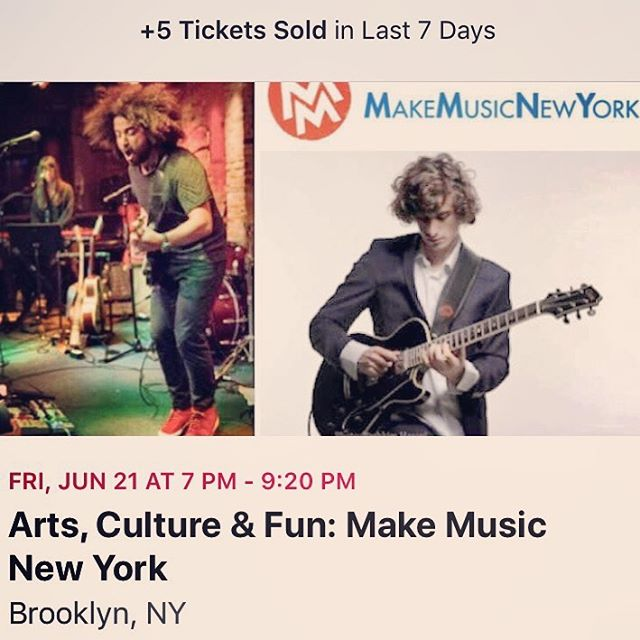 Info https://www.nycgovparks.org/events/2019/06/21/arts-culture-fun-make-music-new-yor RSVP/Free Tickets https://www.facebook.com/events/2496065787070107/?ti=icl