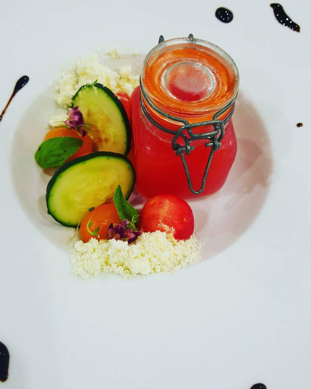 My version of a Bloody Mary as an amazing chilled soup.