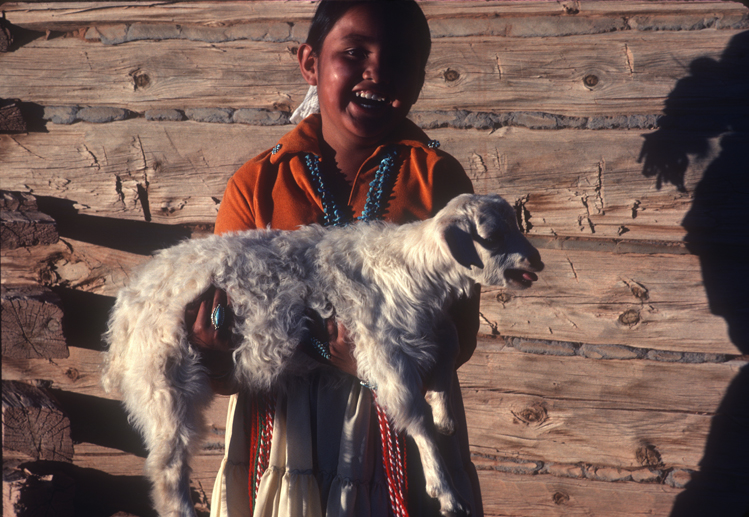 navajo girl with bleating goat.jpg