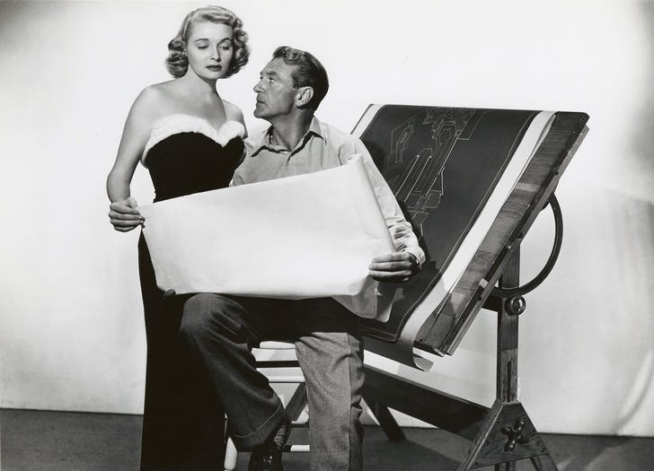 Still from the Fountainhead (Gary Cooper and Patricia Neal).