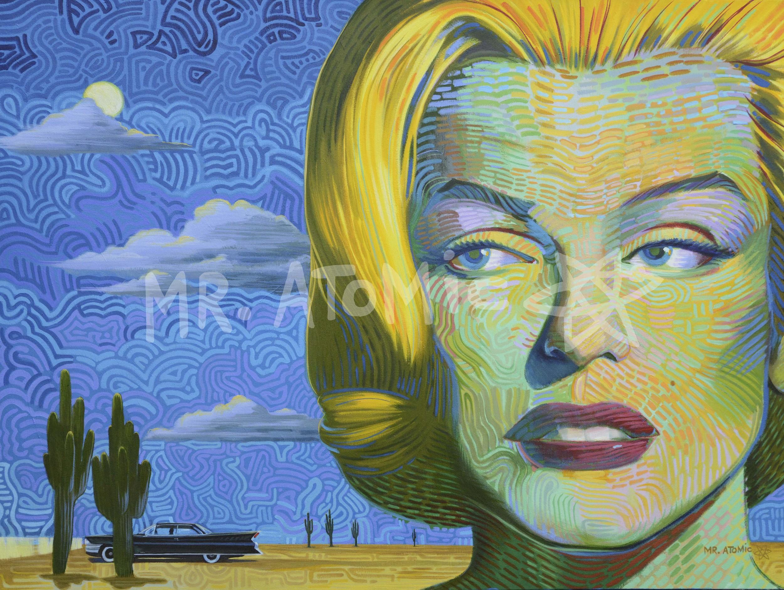 Marilyn Monroe's Desert Adventure - 3'x4'