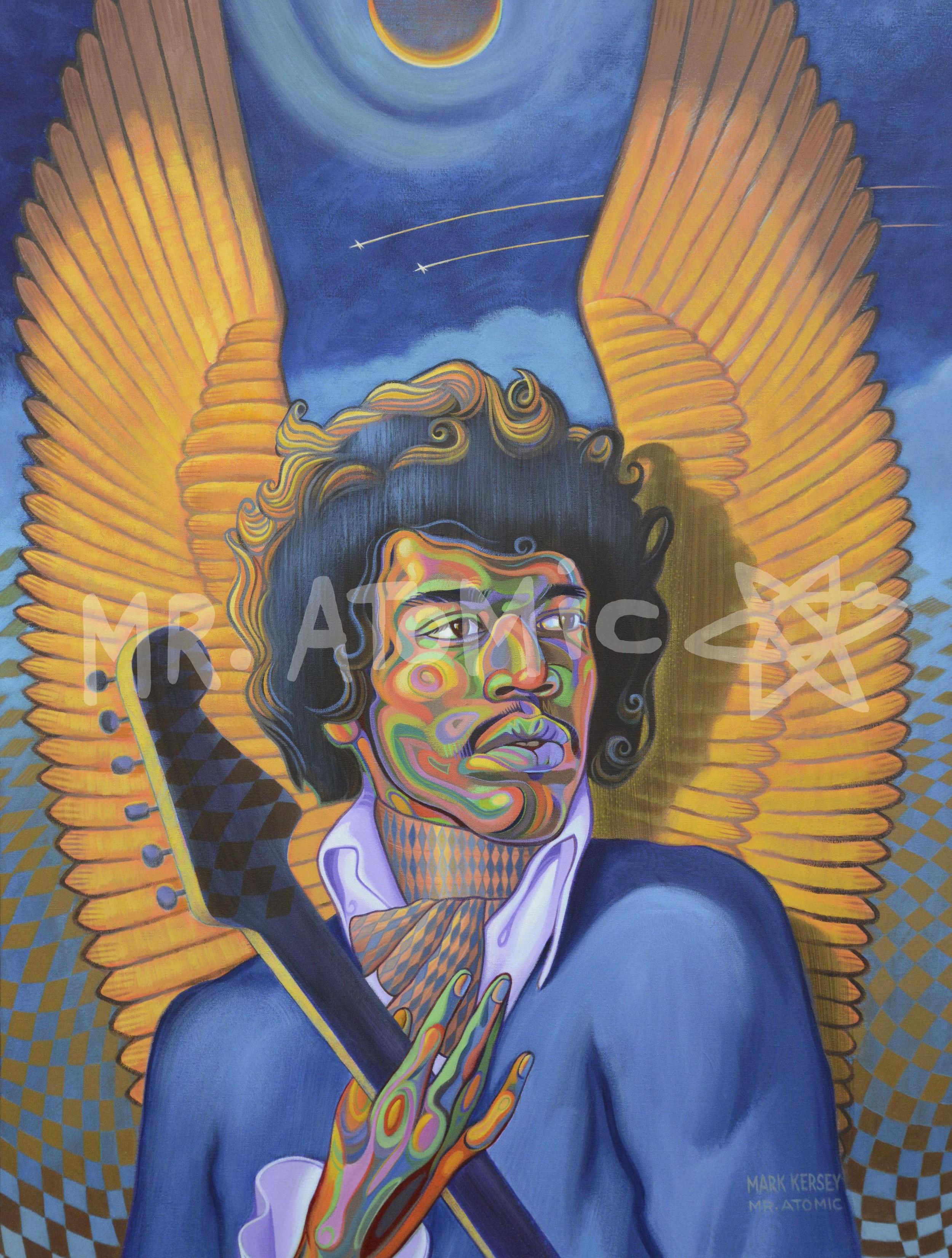 Little Wing Jimi Hendrix - 3'x4'