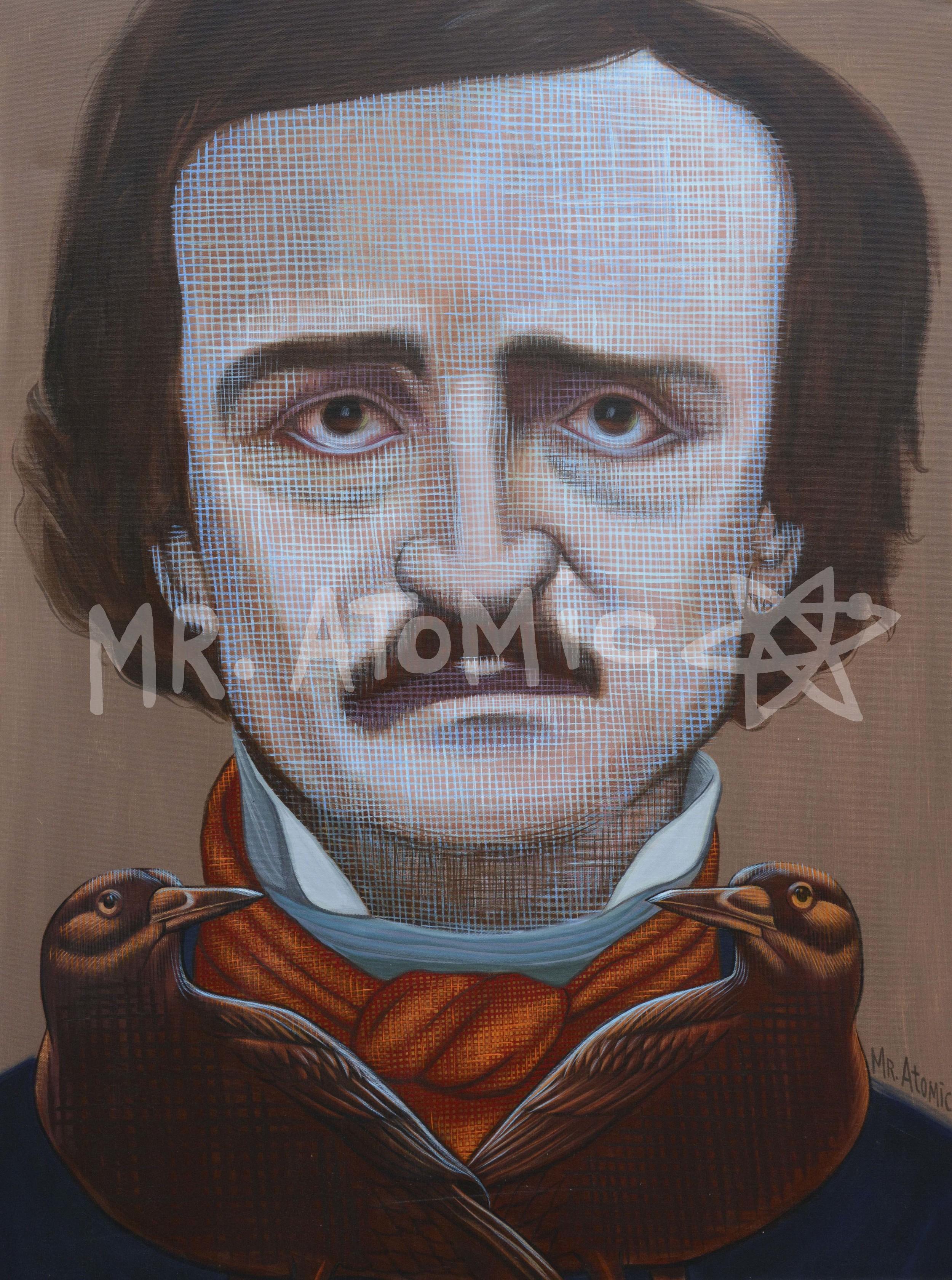 Edgar Allan Poe Nevermore - 3'x4'