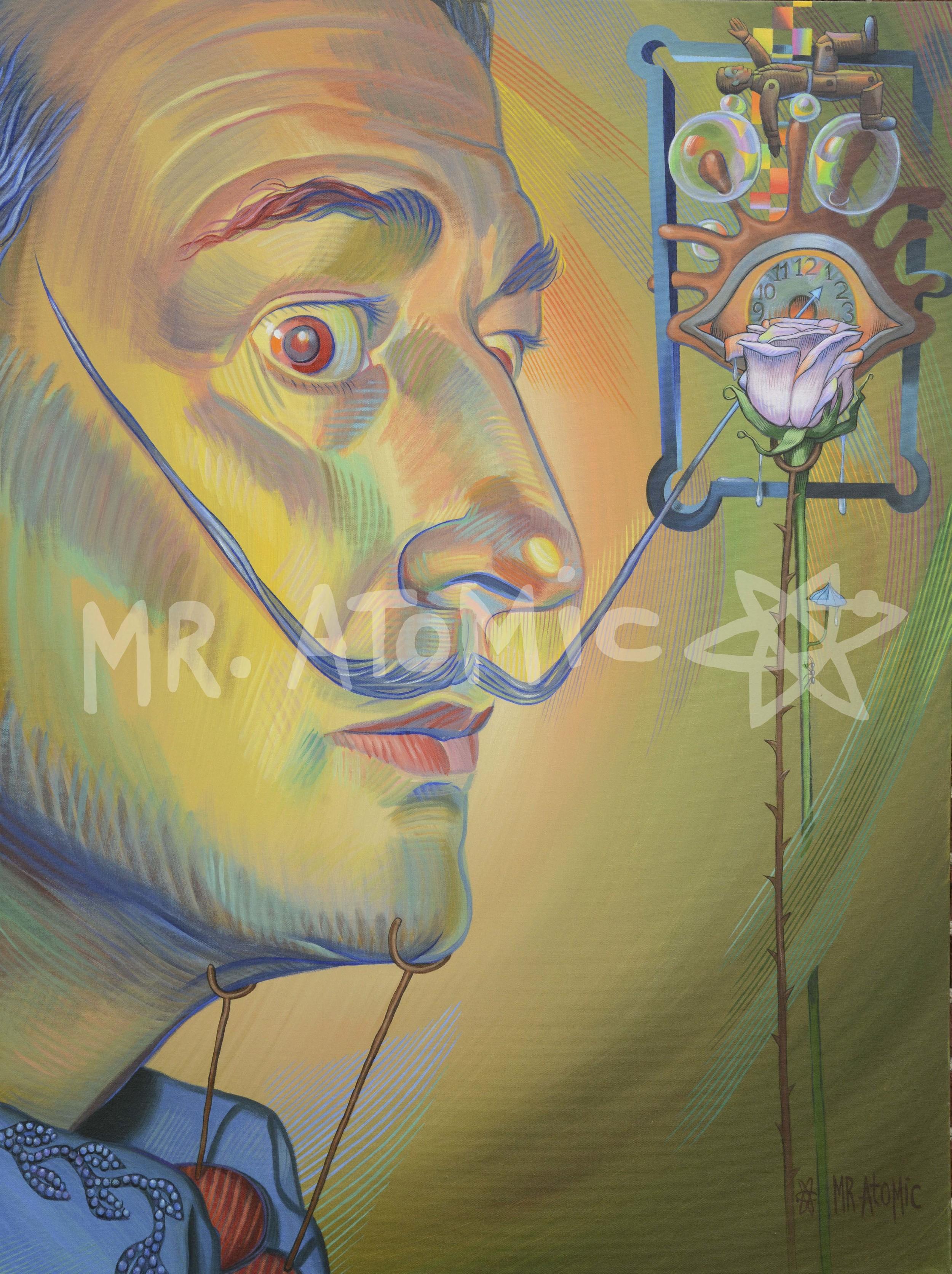 Salvadore Dali-Mustache with Crutch - 3'x4'