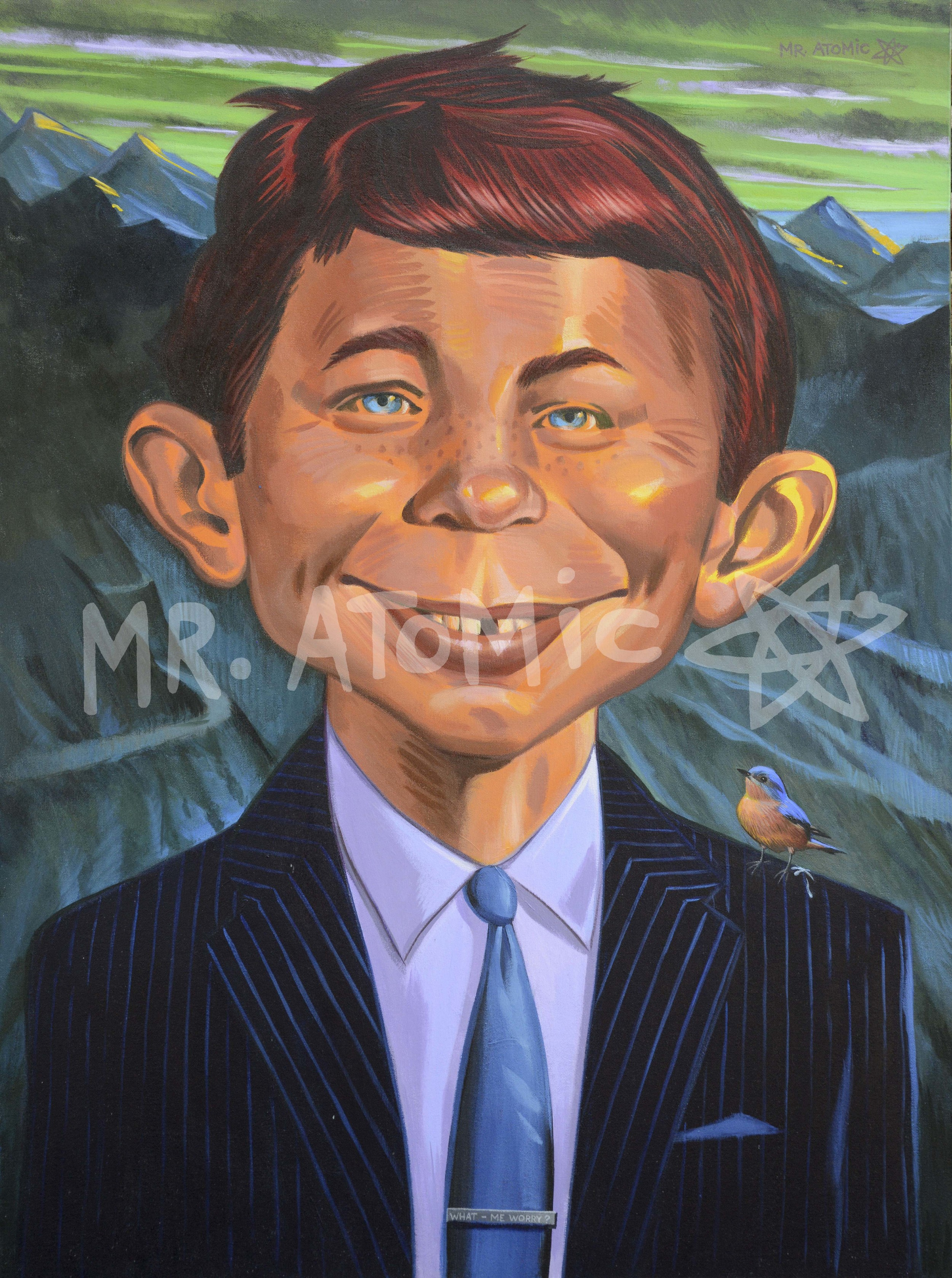 "Alfred E Neuman - What me Worry? - 30""x40"""