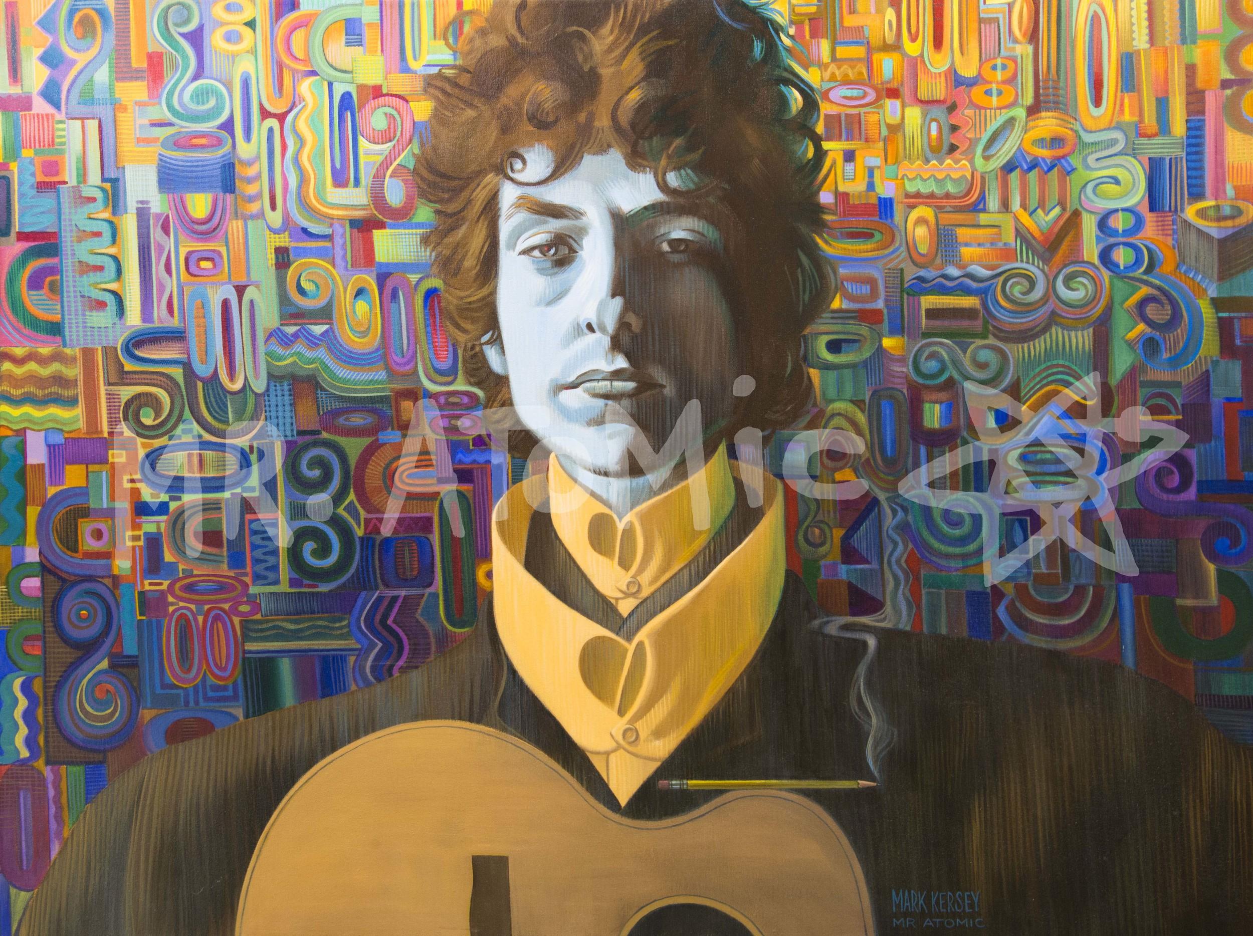 Bob Dylan Poetry Man - 3'x4'