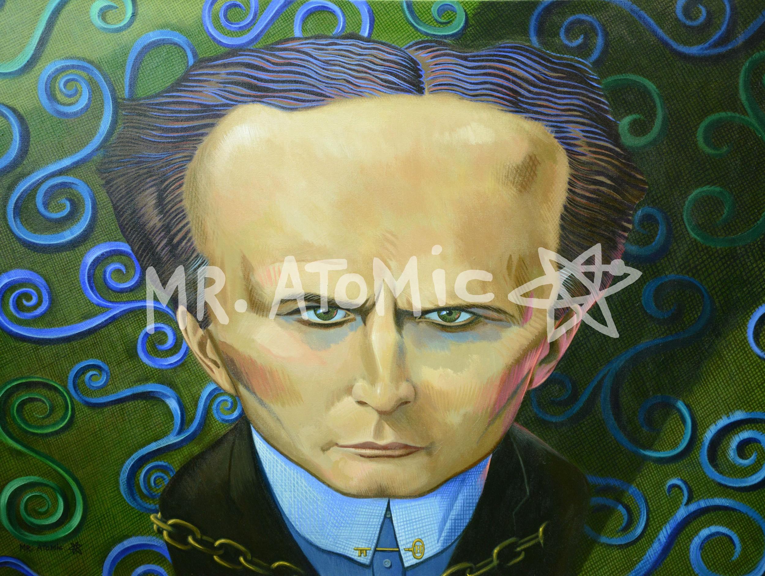 Harry Houdini - 3'x4'