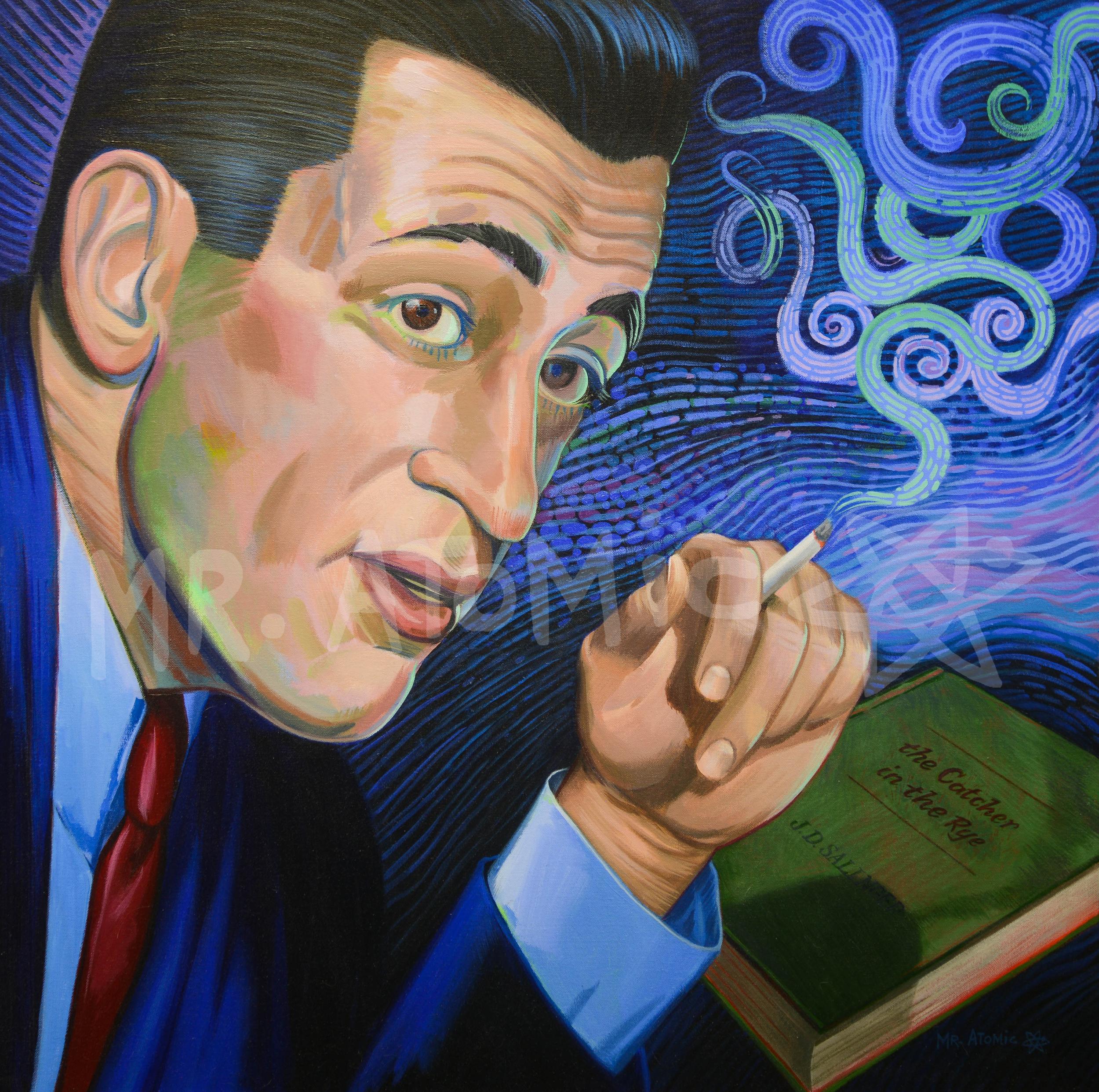 J.D. Salinger - 3' x 3'