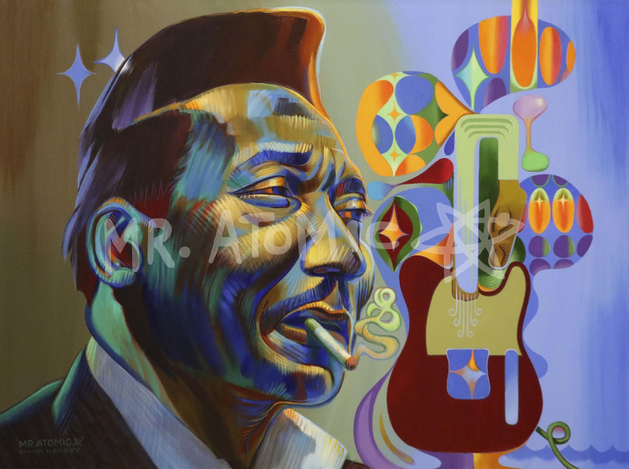 Muddy Waters - Blues Man - 3'x4'