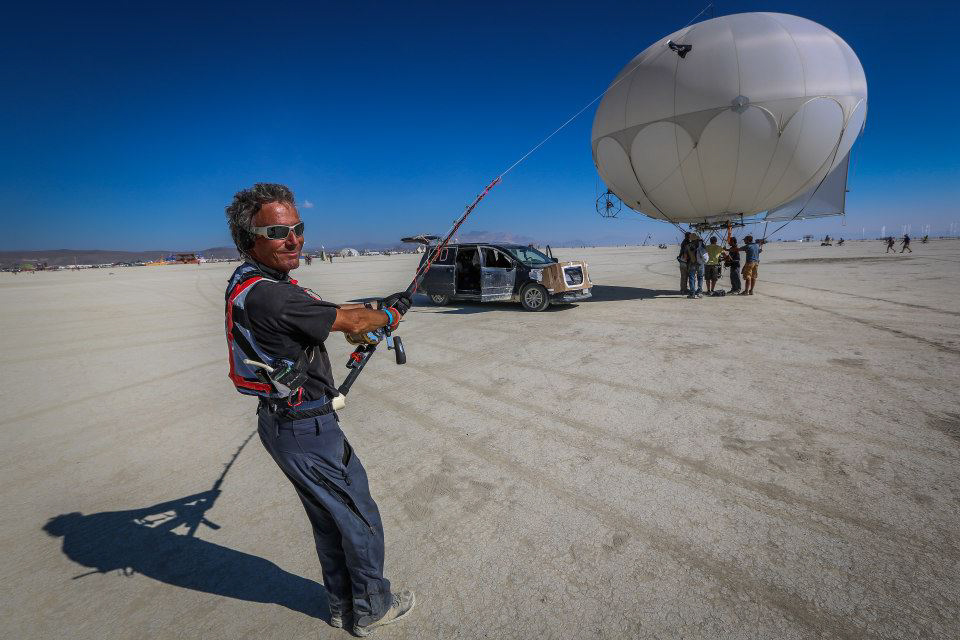 Burning Man - giant steadicam