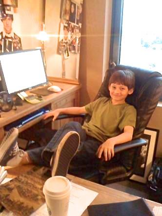 Jared in the office at AEF.
