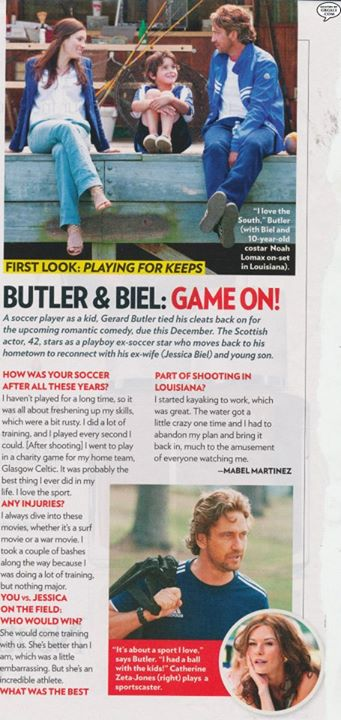 "Noah in People magazine for ""Playing for Keeps""."