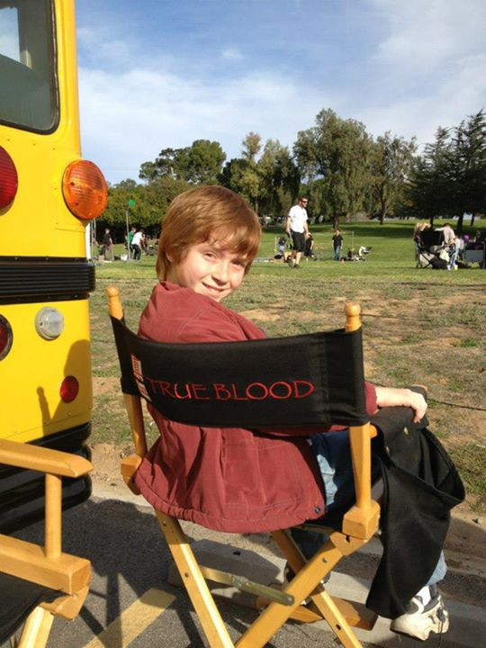"Sam on the ""True Blood"" set."