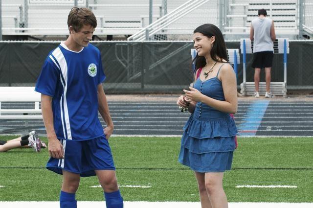 "Nick and Naomi Scott in ""Lemonade Mouth""."
