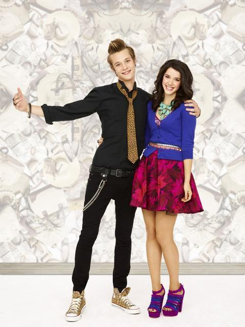 """Nick and Erica Dasher as Billy and Jane on """"Jane by Design""""."""