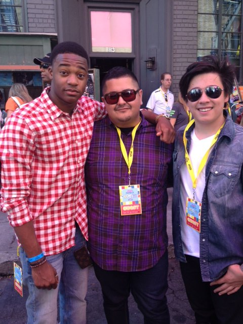 Chris with Milton Perea and Tristan Pasterick at Variety's 2012 Power of Youth event.