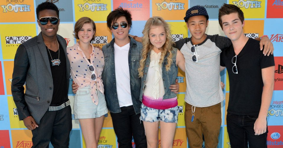 "Tristan and the rest of the ""Incredible Crew"" cast at the Power of Youth event."