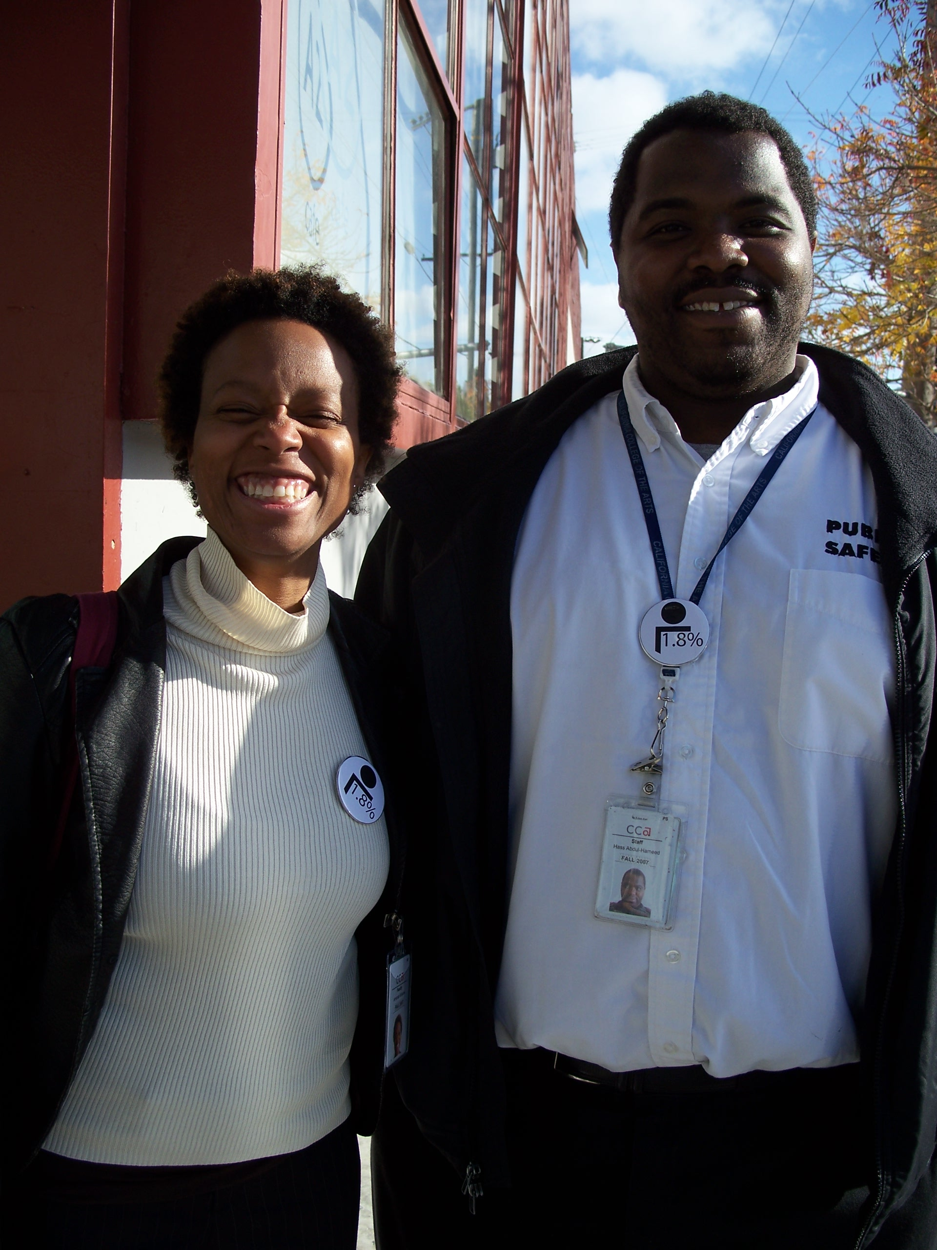 CCA Professor, Amanda Williams, and CCA student/staff member, Hassan Abdul-Hameed