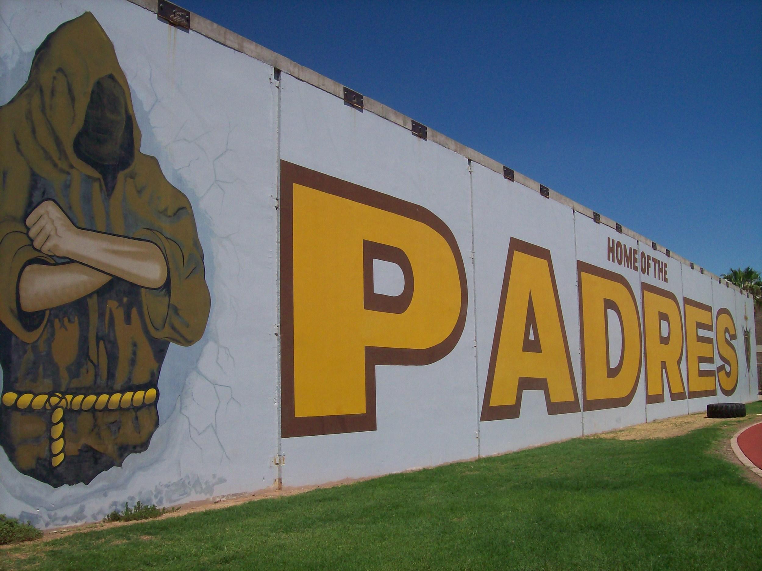 "Marcos de Niza High School ""Fighting Padre"" mural, Tempe, Arizona"