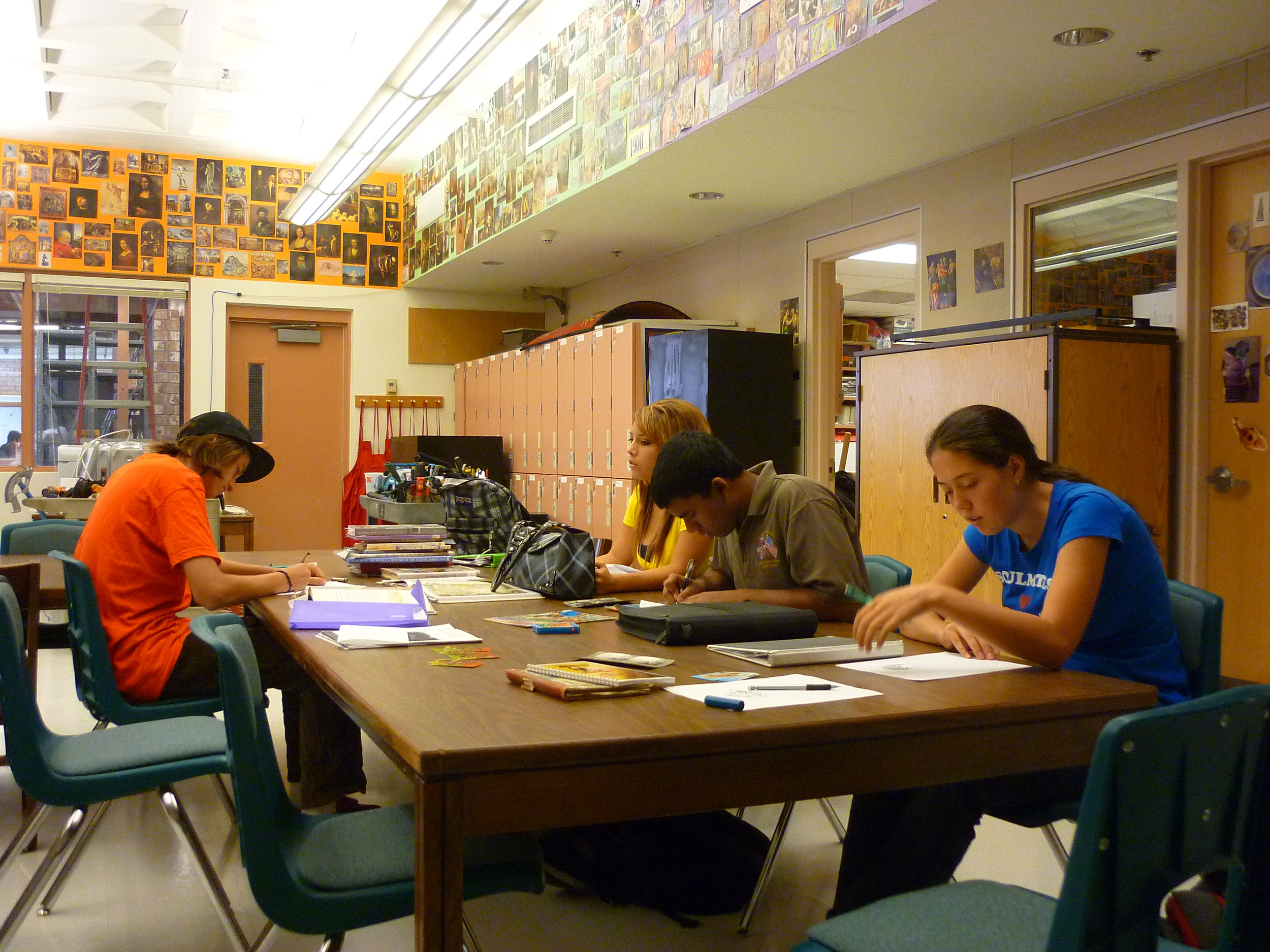 """Students conducting research in """"What Would Marcos See?"""" workshop"""