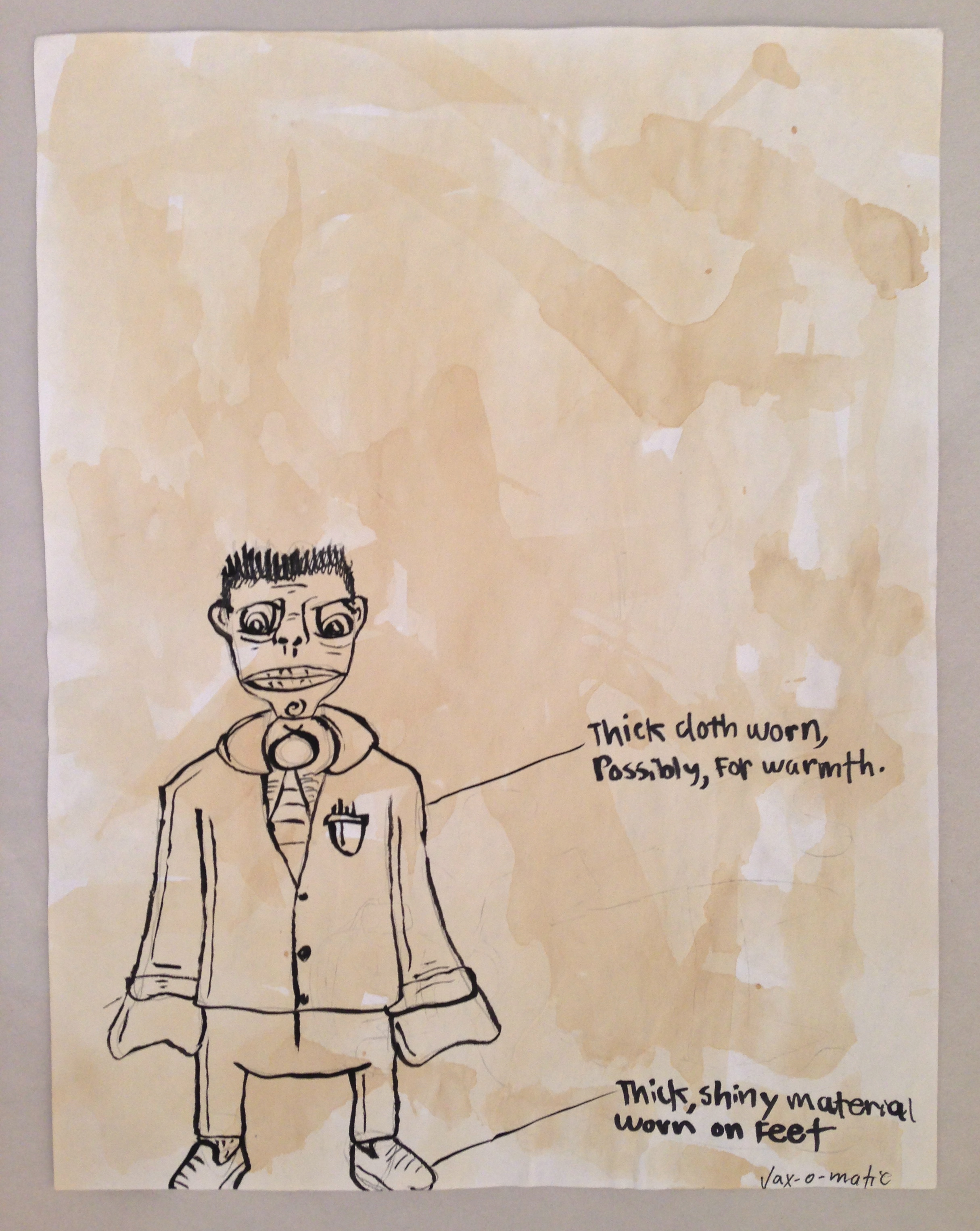 Student drawing of observed student clothing