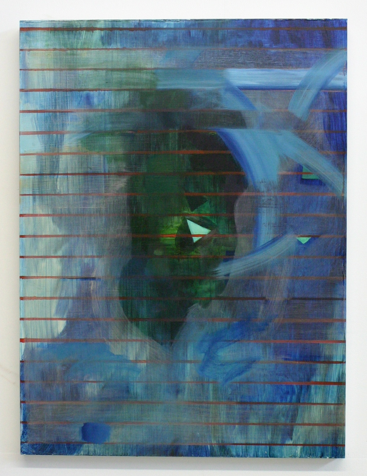 Straits, 2012, oil on wood panel, 24 x 18 inches