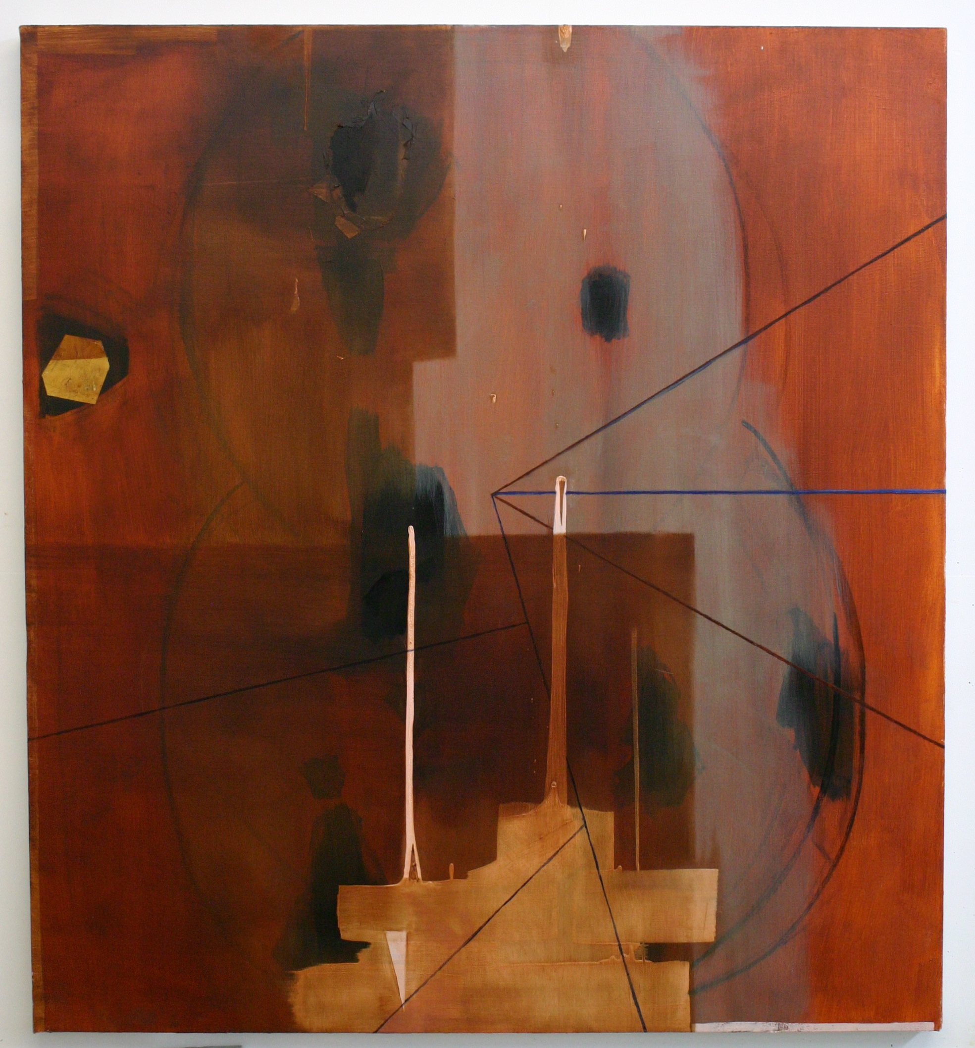 Magellan's Demise, 2012, oil on canvas, 46 x 42 inches