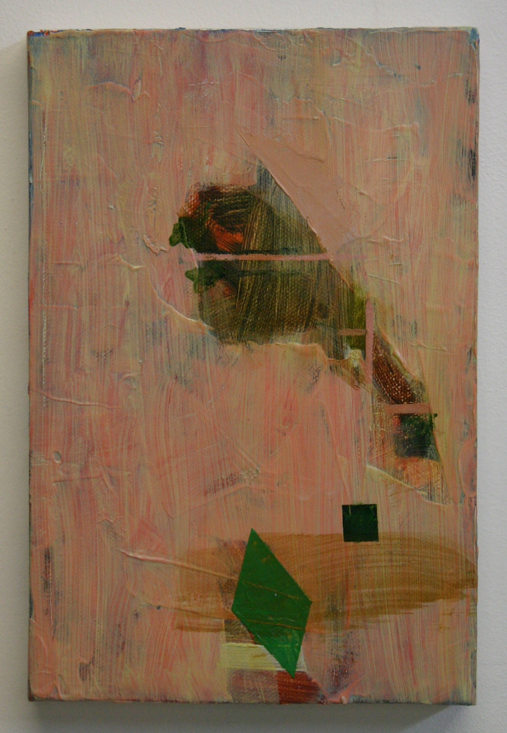 Criss Cross, 2012, oil on canvas, 9 x 6 inches